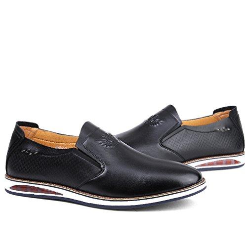 Chaussures Mocassins Automobiliste Soulier Noir Plat Loafers Business Hommes Léger Loisir Derby wP5Wqp