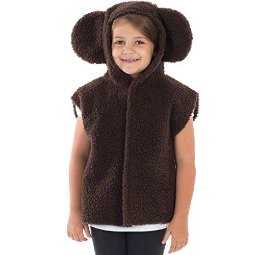 Charlie Crow Dark Brown Teddy Bear Costume for Kids one Size 3-8 Years
