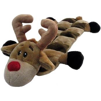 Amazon Com Outward Hound Squeaker Mat Holiday Reindeer