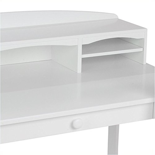 Pemberly Row Kids Desk with Hutch and Chair in White