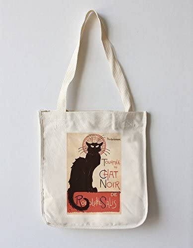 Chat Noir Cabaret Troupe gato negro (100% algodón Tote – Bolsa reutilizable, refuerzos, fabricado en América) por Farol de prensa: Amazon.es: Hogar