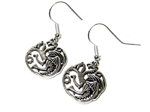 Game of Thrones House of Targaryen Dragon Silver Dangle (Teenage Mermaid Halloween Costumes)
