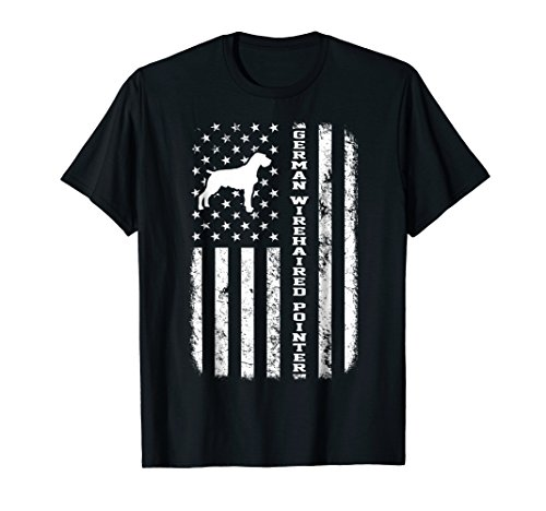 (German wirehaired Pointer Flag Gift T-Shirt For Dog Lovers)