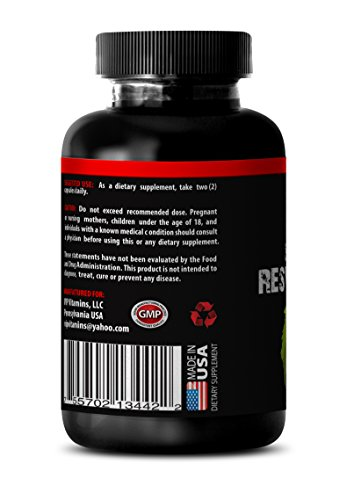 Pure Grape Seeds Extracrt in Resveratrol - Premium Red Wine Extract 1200 - Maximum Strength Super Blend 3 Bottles 180 Capsules Discount