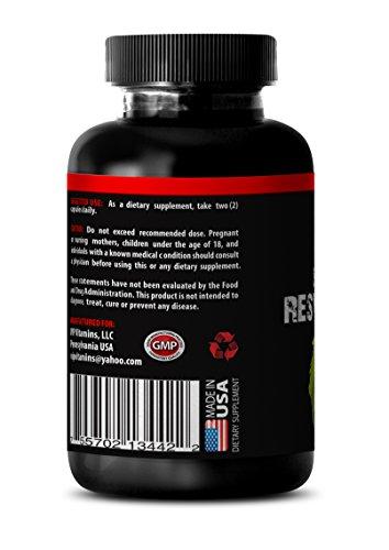Resveratrol Best Powder - Premium Red Wine Extract - 1200 mg Maximum Strength Super Blend 1 Bottle 60 Capsules Discount