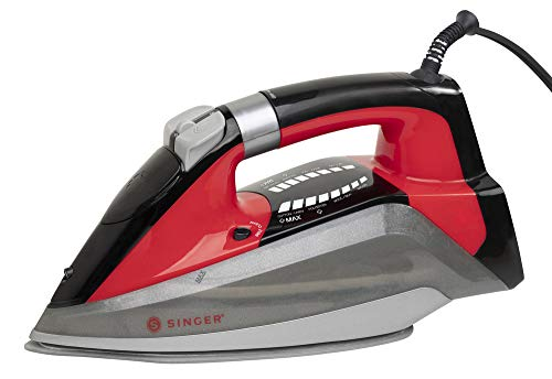 SINGER SteamLogic 7061 1775 Watts, 25 Minutes of Continuous Steam Output, and 280 ml Tank Capacity Iron, Red
