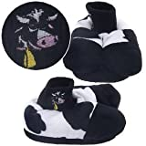 Cow Animal Feet Mooing Slippers for Kids -SIZE YOUTH 9-12
