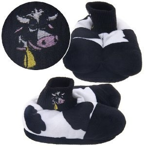 Moo Cow Little (Cow Animal Feet Mooing Slippers for Kids -SIZE YOUTH 9-12)