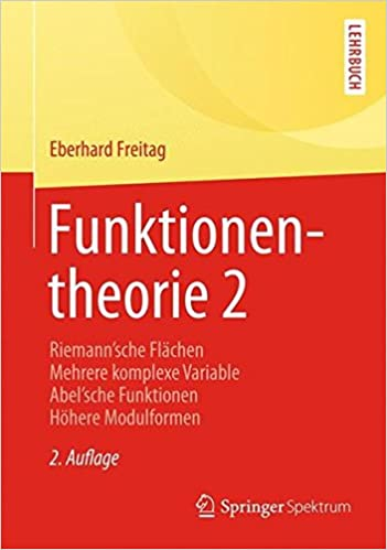 funktionentheorie 2 springer lehrbuch german edition