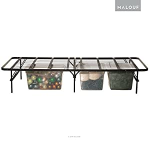 structures by malouf highrise folding metal bed frame 14 inch high bi fold platform bed base and box spring