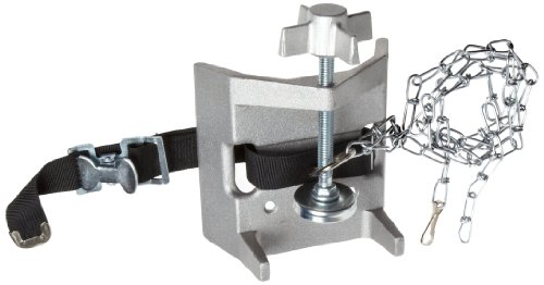 Talboys 716 Aluminum Cylinder Bench Clamp with Strap and Chain, 3.25