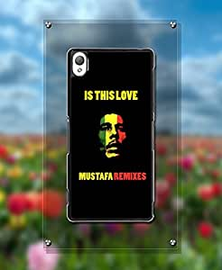 Singer Bob Marley Pattern For Sony Xperia Z3 Funda Case Hart Feel Shell Protection & Vintage Famous Unique Design Printed Pattern Slim Ultra Hybrid Cell Phone Hard Funda Case (Not for Z3 V / Z3 Compact)