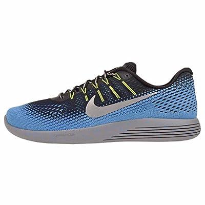 Nike Men's LUNARGLIDGE 8 SHIELD, Black/Blue-Metallic Silver, Size 9.5