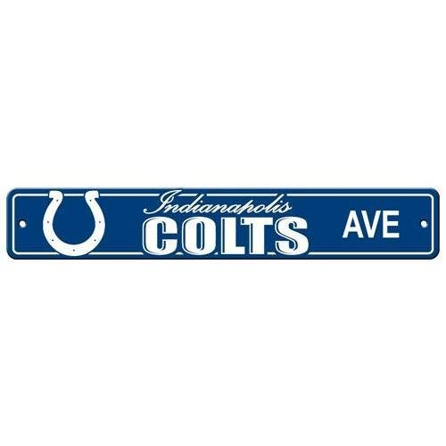 - NFL Indianapolis Colts Plastic Street Sign