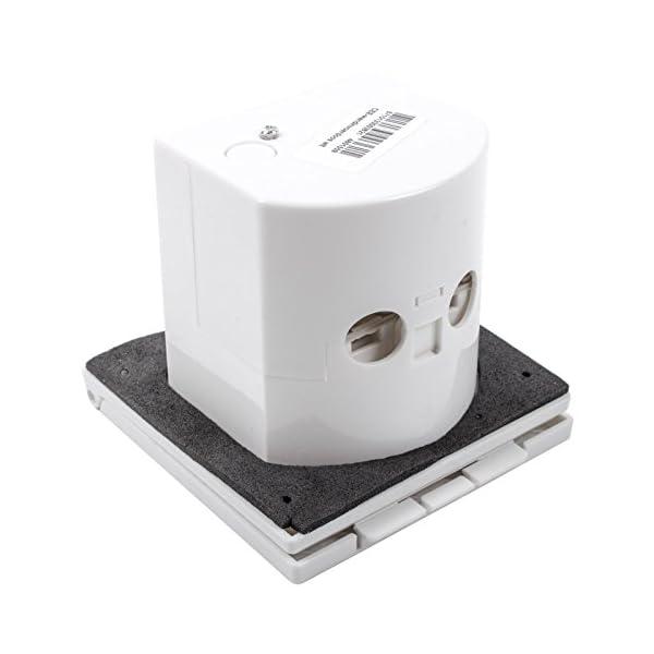 41P1hzmbtaL wamovo CEE Aussensteckdose weiß Spritzwasser geschützt 200-240V, 16A, 3 polig IP44