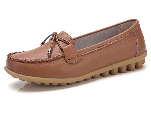 VenusCelia Women's Comfy Plus Walking Flat Loafer(10 M US,tan)