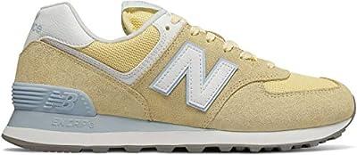New Balance Womens 574 Lemon Classic Sneakers