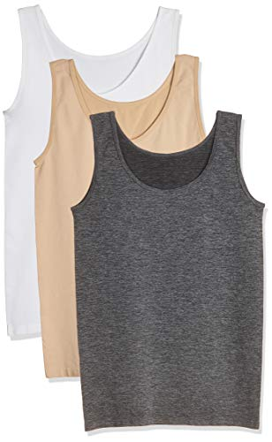 Layla's Celebrity 3 Pack Women's Seamless Basic Layer Tank Top Nylon Spandex (Silk Nylon Camisole)
