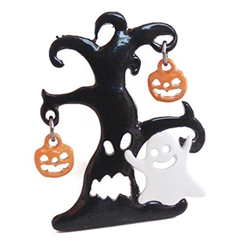 SODIAL(R) Halloween Kuerbis Brosche Schwarz Spinne Party Dekoration ...