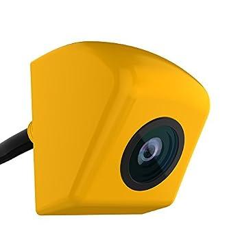 GOGO ROADLESS Rear View Camera High Definition Waterproof Wide Angle Car Backup Rear View Camera Yellow