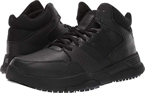 Shoes For Crews Mens Hart Athletic-Sneaker High Slip Resistant Work Shoe Black - Athletic Mens Slip