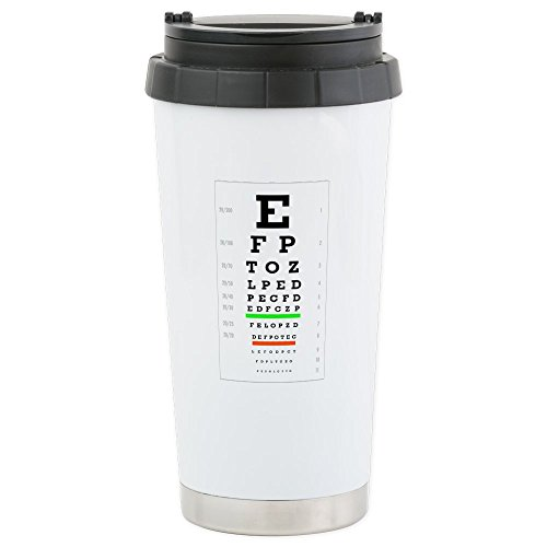 CafePress - Snellenchart - Stainless Steel Travel Mug, Insulated 16 oz. Coffee (Snellen Type)