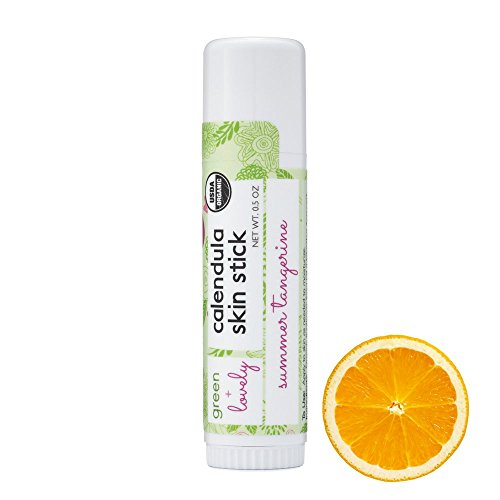 Calendula Skin Stick, Summer Tangerine. Moisture Stick. Organic Lotion Bar. Moisturizing Ointment Salve. Multipurpose Skin Cream - 0.5 oz. (2 tube ()