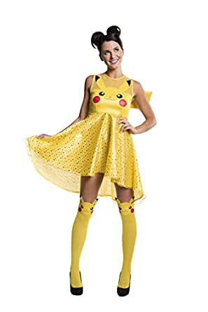 Rubie's Women's Pokemon Pikachu Costume Dress, Yellow, X-Small