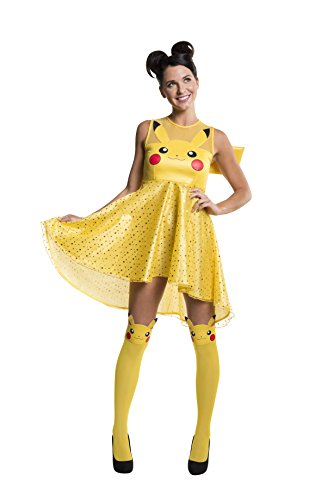[Rubie's Women's Pokemon Pikachu Costume Dress, Yellow, Large] (Pikachu Costumes Women)