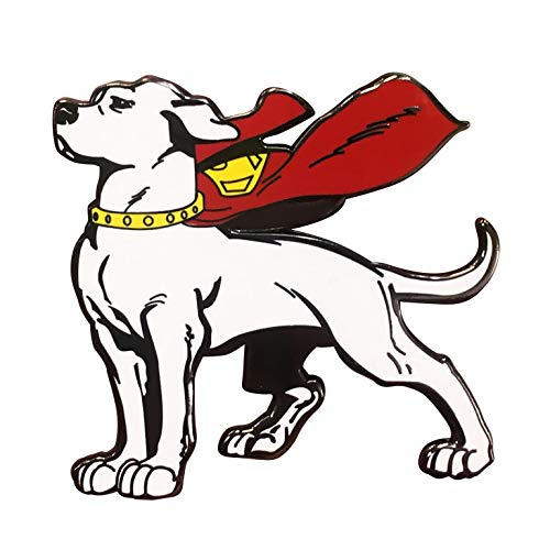 (Superman Krypto the Superdog Enamel | DC Comics Worlds | Pin Double Post Back | Perfect for New Tote Bag Coming Later | Great Item for Superman Fans)