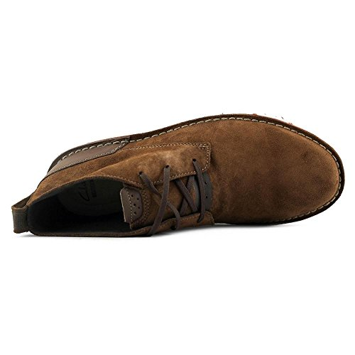 Clarks Mens Capler Mid Chukka Boot In Pelle Scamosciata Marrone