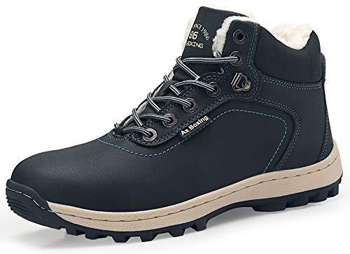 Allineato Neve Boots Escursionismo Scarpe Abtop Da Pelliccia Invernali Piatto Stivali Uomo Sportive Caviglia A7445 Caloroso Stivaletti blu 354LRAqcjS