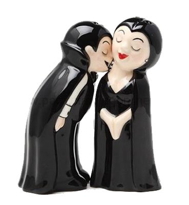Vampire Love at First Bite Ceramic Salt & Pepper Shaker Set