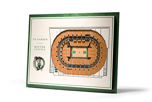 Boston Basketball Stadium - NBA Boston Celtics 5-Layer Stadiumviews 3D Wall Art