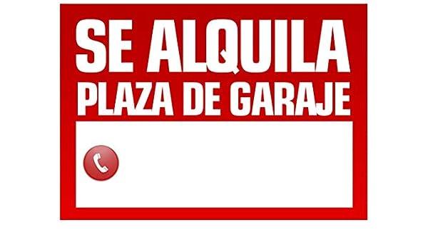 Wayshop | Cartel Se Alquila Plaza de Garaje | Medidas 50cm x ...