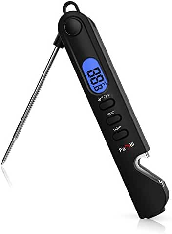 Famili FM6018 3 in 1 Multifunctional Digital Instant Read Meat Thermometer with Flashlight & Bottle Opener Design for Kitchen BBQ Grill Smoker Food Cooking