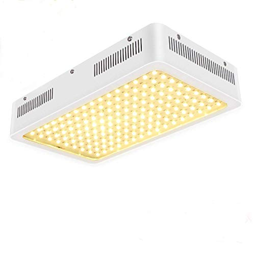 TOPLANET 1500W LED Grow Light, 380nm-780nm Real Full Spectrum Plant Growing Lamps 3500k Natural Light 120°Led Grow Panel for Greenhouse Hydroponics and Indoor Plants Veg and Flowering/23000Lm