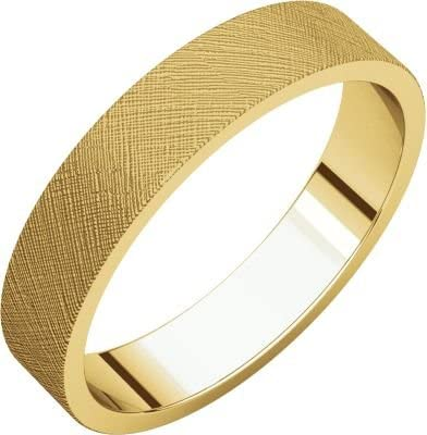 Size 9.5 Bonyak Jewelry 10k Yellow Gold 4 mm Flat Band