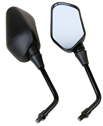 (MotorToGo Black Rear View Mirrors for 2004 Victory Touring Cruiser)