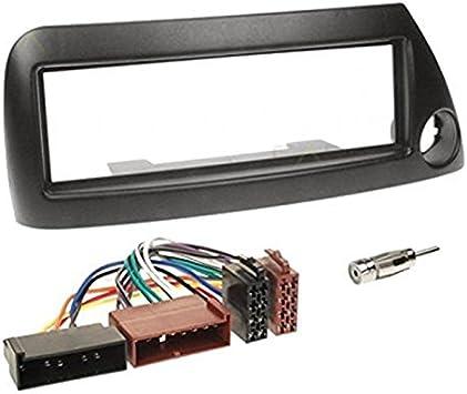 Sound-way Kit Montage Autoradio, Marco 1 DIN Radio de Coche, Adaptador Antena, Cable Adaptador Conector ISO, Compatible con Ford KA