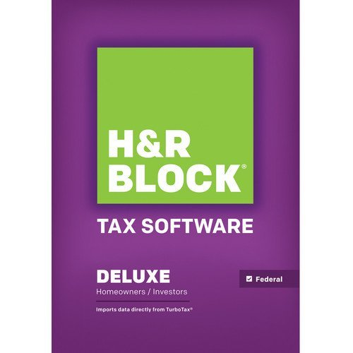 H&R Block Tax Software Deluxe 2013 - R H Software Block 2013 Tax