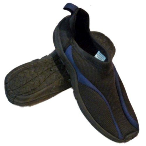 Surf Bay Heren Zwart En Blauw Aqua Sokken Strand & Waterschoenen