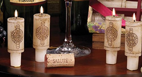(CC Home Furnishings Set of 6 Wine Country Merlot Scented Cork)