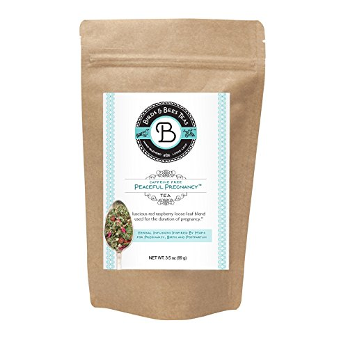Peaceful Pregnancy Tea – Organic Red Raspberry Leaf - Birds & Bees Teas also includes Nettle, Rosehips, Rose Petals and more – Nourishing and Safe for Your First Trimester through (Bird Tea)