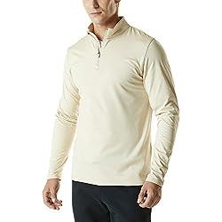 Tesla TM-YKZ01-OTM_3X-Large Men's Winterwear Sporty Slim Fit 1/4 Zip Fleece Lining Sweatshirt YKZ01