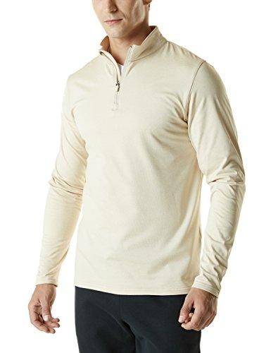 TM-YKZ01-OTM_Medium Tesla Men's Winterwear Sporty Slim Fit 1/4 Zip Fleece Lining Sweatshirt...