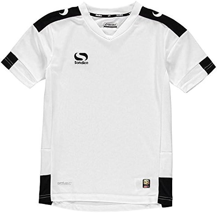 1d6a4c70deb Sondico Kids Training Jersey Junior Boys Lightweight Football Summer Top  White/Black 7-8 (SB): Amazon.co.uk: Clothing