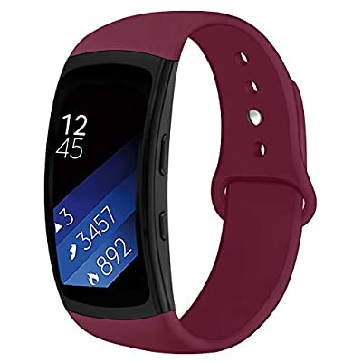 OenFoto Sports Band Compatible Gear Fit2 Pro/ Fit2, Replacement Silicone Accessories Strap Samsung Gear Fit2 Pro SM-R365/ Gear Fit2 SM-R360 Smartwatch