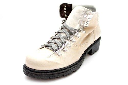 L10515G - Bottines de marche à lacets - cuir - talon moyen - femme