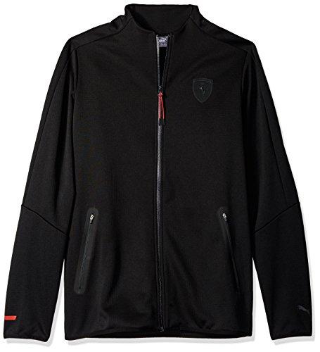 PUMA Men's Ferrari T7 Track Jacket, Black, XXL